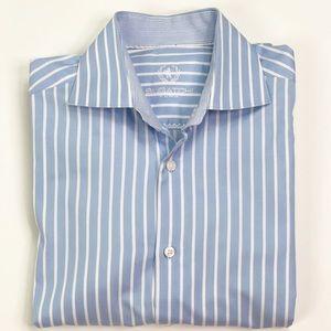 Bugatchi Uomo Mens Long Sleeve Dress Shirts Size L